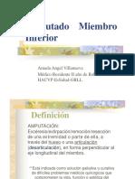 Amputado Miembro Inferior - R1 AAV- HAVCP
