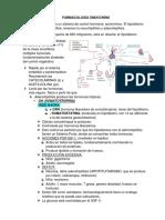 Farmacología endocrinóloga.