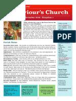 st saviours newsletter - 3 nov 2019 - kingdom 1