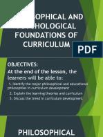 Philosophical Foundations of Curriculum