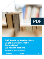 GST Audit by Authorities - Legal Manual for GST Authorities - 1 November 2019 - CA Pritam Mahure and Associates