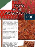 Textil en El Antiguo Peru