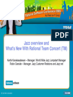 Jazz overview and What's New With Rational Team Concert (TM) - DCRUM