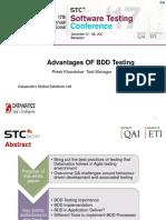 Advantages of Bdd Testing Stc 2017 Regional Round Ppt