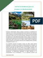 El Valor de Los Ecosistemas Para La Humanidad y La Biodiversidad (1)