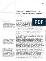 Structural Morphology as a Field of Architectural Inquiry