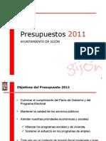 PRESENTACIÓN PRESUPUESTO 2011