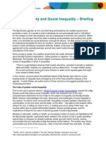 A Bigger and More Equal Society - Briefing Paper