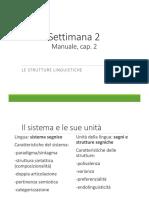 Le strutture linguistiche