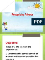 Recognizing Adverbs