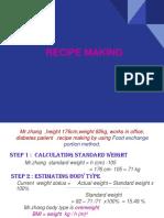 Recipe Making