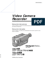 Manual Filmadora Sony