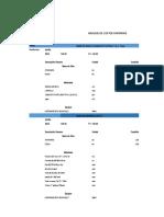 Analisis de Costos Unitarios Ahuac 2016