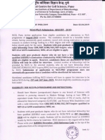 NCCS Ph D Admission August-2019 - Copy