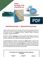 12. Centralismo, Regionalizacion y Descentralización en El Peru
