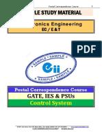 Control Electronics GATE PSU Study Materials