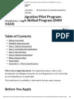Atlantic Immigration Pilot Program_ Atlantic High-Skilled Program (IMM 5424) - Canada.ca