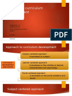 Student centered curriculum