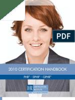 2010 Certification Handbook