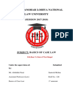 Basics of Case Law Project - dk basu vs state of west bengal