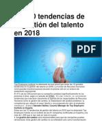 Las 10 Tendencias de La Gestión Del Talento en 2018