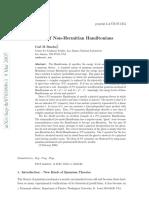 Non Hermitic Hamiltonians and PT Symmetry Bender