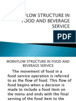 Workflow Structure in the Food and Beverage Service