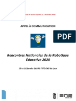 Appel a Communications Rnre2020