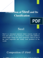 Production of Steel and Its Classification