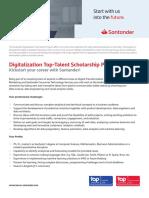 Digitalization Top-Talent Scholarship Program