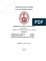 LABORATORIO 1 Determinacion de TurbidezpH y Conductividad