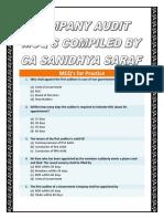 Company Audit MCQs - Sanidhya Saraf