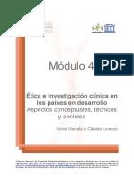 01 Etica e Investigacion Clinica en Los Paises en Desarrollo Garrafa Lorenzo