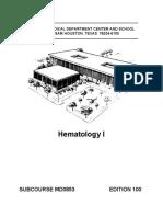 US Army Medical Course - Hematology I - MD0853.pdf