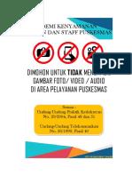 Poster Dilarang Foto