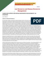 Industrial relation & lobor laws
