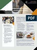 Capacidades y Habilidades Curso Chef