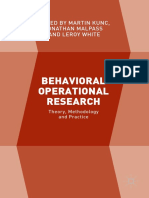 BEHAVIORAL Operational Research
