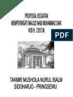 Proposal Permohonan Dana Phbi Maulid Nabi Muhammad Saw Nurul Islam