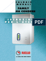 RIELLO Manuale Uso Caldaia a Gas a Condensazione FAMILY AQUA CONDENS