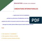 DNS Sujet d'Étude Les Migrations Internationales