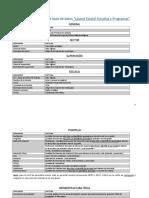 Manual de Llenado de Base de Datos Lalyout