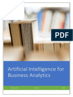 Artificial Intelligence for Business Analytics