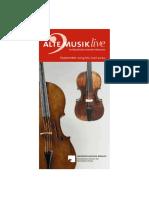 Alte Musik live 2019 - 2020