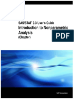 Introduction to Nonparametric Analysis