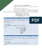 Sustitución trigonométrica