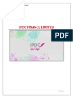 Ipdc Finance Limited Term Paper