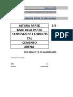 CALCULO DE MATERIALES