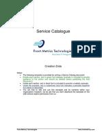 Service Catalogue Template Front Metrics Technologies