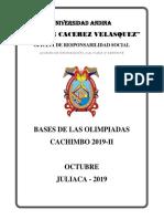 Bases de Olimpiadas Cachimbo 2019 - II